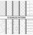set of ten seamless patterns vector image vector image