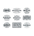 set of typographic emblems in the style vector image vector image