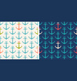 set patterns with anchor vector image vector image