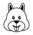 simple cartoon a cute squirrel vector image vector image