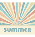 Summer Vintage background vector image vector image