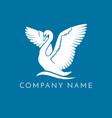 swan logo sign emblem-15 vector image vector image