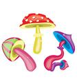 Toxic mushrooms vector image vector image