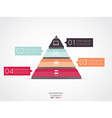 Triangle infographic for business project vector image vector image