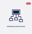 two color information architecture icon from vector image vector image