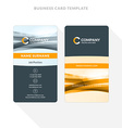 Vertical Double-sided Business Card Template with vector image vector image