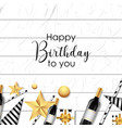 white happy birthday background vector image vector image
