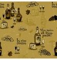 Wine still life monochrome vector image vector image