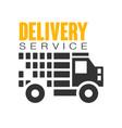 delivery service logo design template vector image