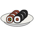 sushi japanese food icon vector image