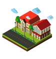 3d design for school buildings vector image vector image