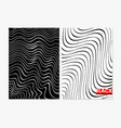 abstract wavy black and vector image vector image