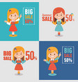 advertising shopping banners big summer sale vector image vector image