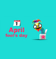 april fools day typography colorful design vector image vector image