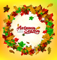 Autumn season round frame vector image