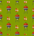 barbecue home seamless pattern background vector image vector image