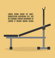 barbell bench press in flat style vector image