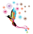 bird colored color pink blue brown orange vector image vector image