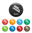 bobsled icons set color vector image vector image