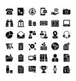 business and finance icons pack vector image vector image