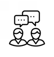 Business Meeting Icon vector image vector image