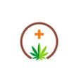 cannabis leaf logo vector image vector image