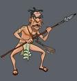 cartoon formidable male aboriginal maori tribe