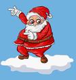 cartoon santa on snow vector image vector image