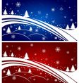 Christmas tree backgrounds vector image