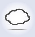 cloud flat gray icon symbol vector image vector image