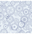 cogs and gears seamless background vector image vector image