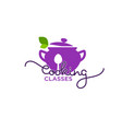 cooking classes logo template image cooking vector image vector image