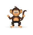 cute chimpanzee karate training black belt little vector image