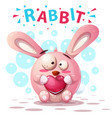 cute rabbit characters - cartoon vector image vector image