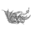 dragon decorative vector image