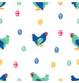 easter textile holiday chicken bird seamless patte vector image vector image