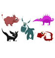 Fantastic cartoon animals vector image vector image