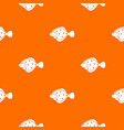 flounder fish pattern seamless vector image