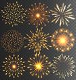 Golden Festive Firework Salute Burst on Black vector image vector image