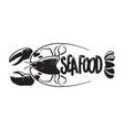 graphich seafood vector image vector image