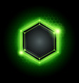 green technology poly hexagon background vector image vector image