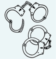 Handcuffs silhouettes vector image vector image