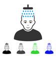 happy head shower icon vector image vector image