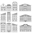 houses collection old european buildings vector image vector image
