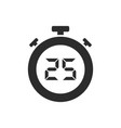 isolated stopwatch icon with twenty five seconds vector image