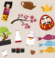 japanese symbols luck pattern japanese vector image