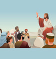jesus spreading his teaching to people vector image vector image