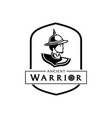 lord of thai ancient warrior logo vector image vector image
