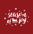 merry christmas calligraphic lettering season of vector image vector image