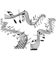 Music notes design set vector image vector image